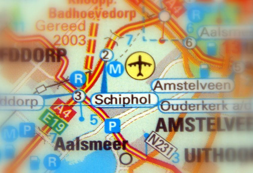 Amsterdam Schiphol Airport Kaart scaled