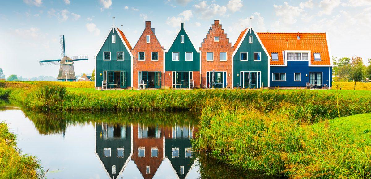 Sightseeing tour met de taxi typische hollandse huisjes en molen scaled